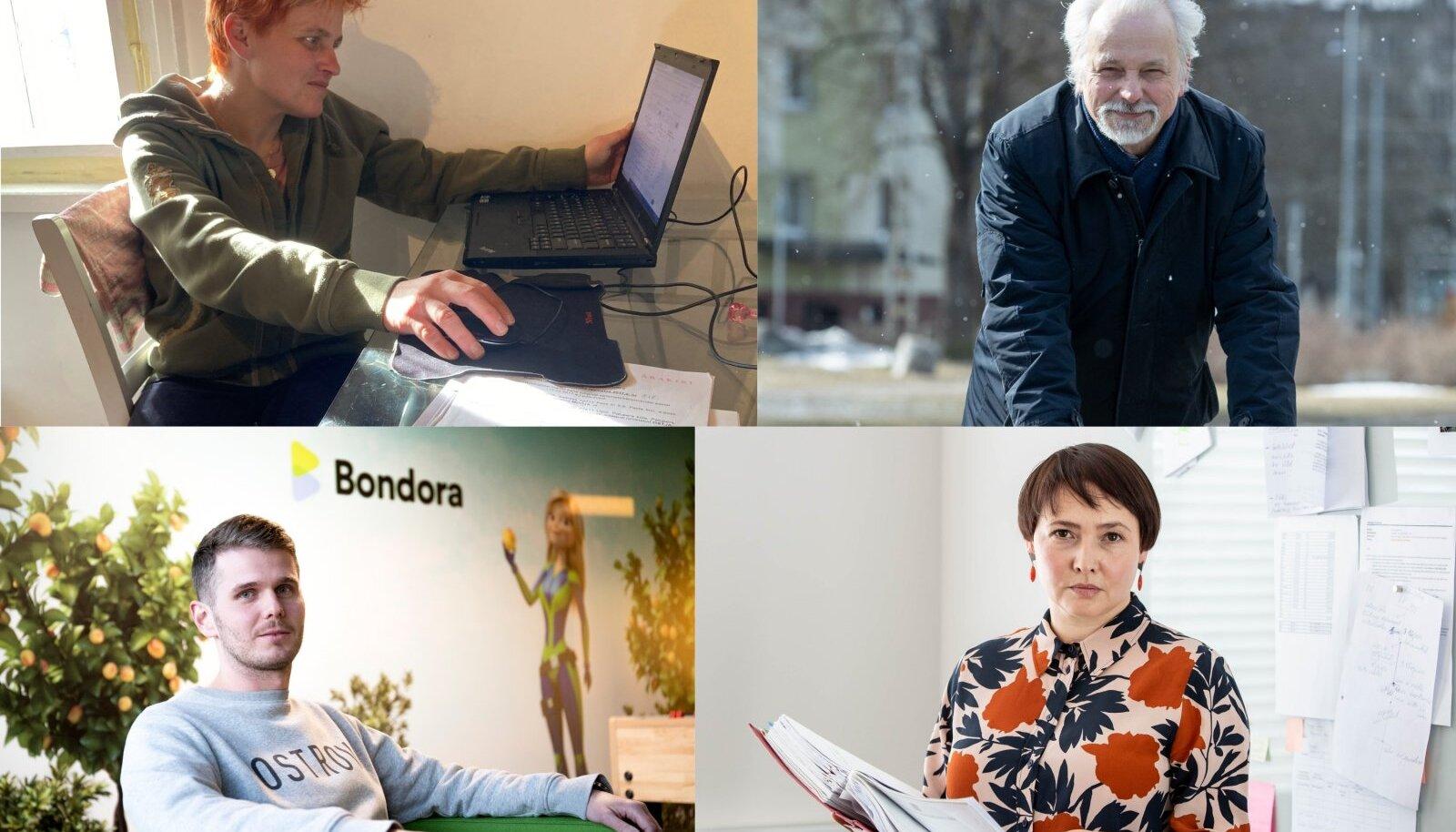 ÜHE VÕLALOO OSAPOOLED: Võlgnik Pille Aim, investor Aarne Leisalu ning Bondora looja, ärimees Pärtel Tomberg ja kohtutäitur Oksana Kutšmei.