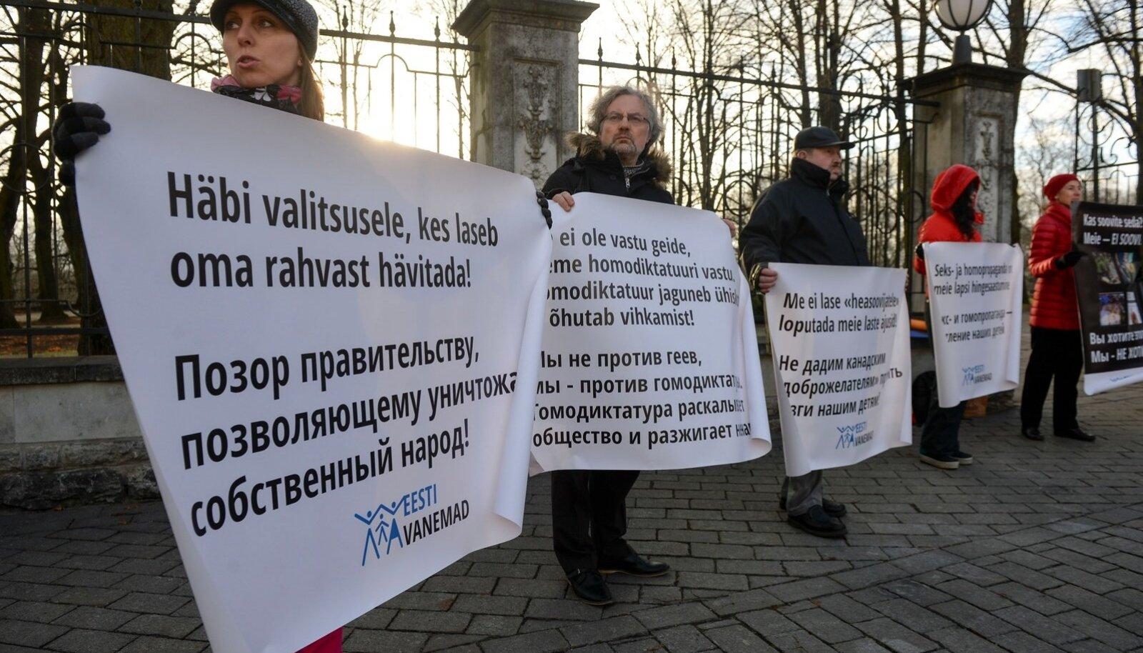 MTÜ Eesti Vanemad miiting Toompeal