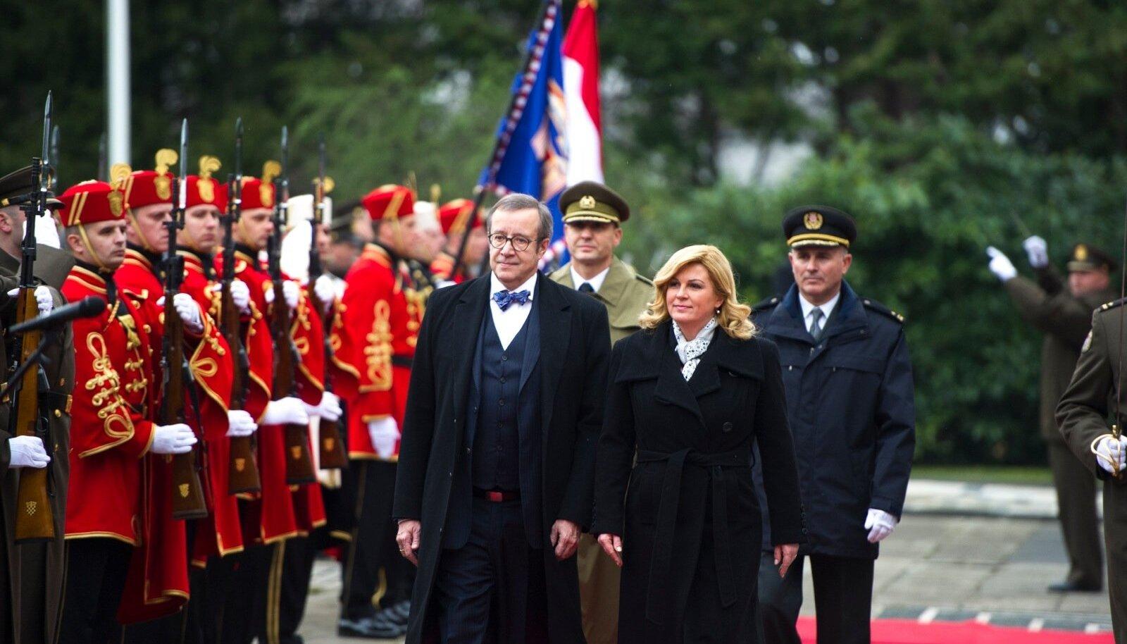 President Ilves kohtub Horvaatia presidendiga