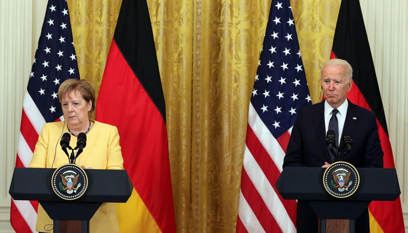 Biden võõrustas Merkelit Valges Majas tõenäoliselt tema viimasel ametlikul visiidil.