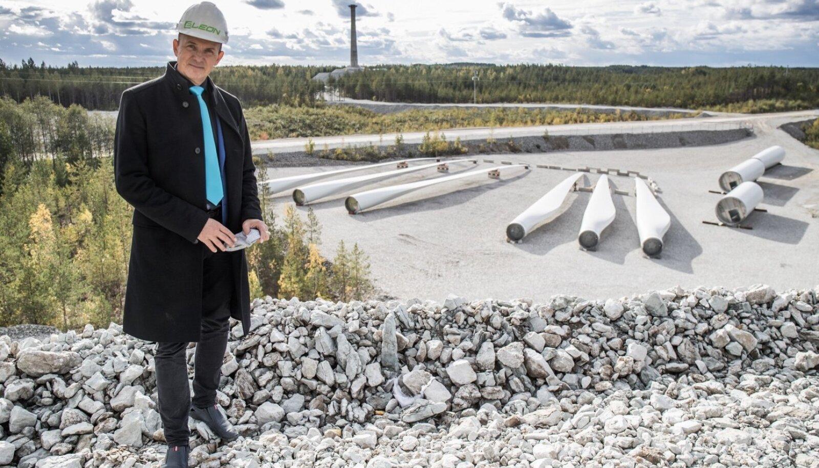 Andres Sõnajalg Aidusse rajatavas vaidlusaluses tuulepargis.