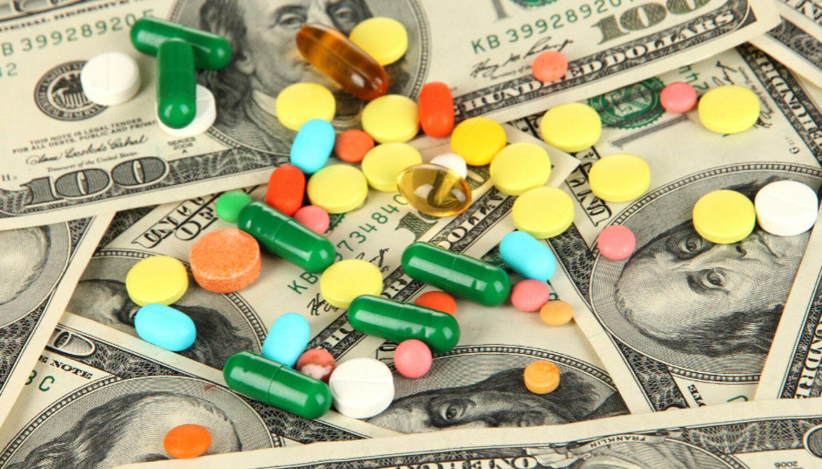 Ravimitööstus üha kasvab ülepaisutatud kasumi toel