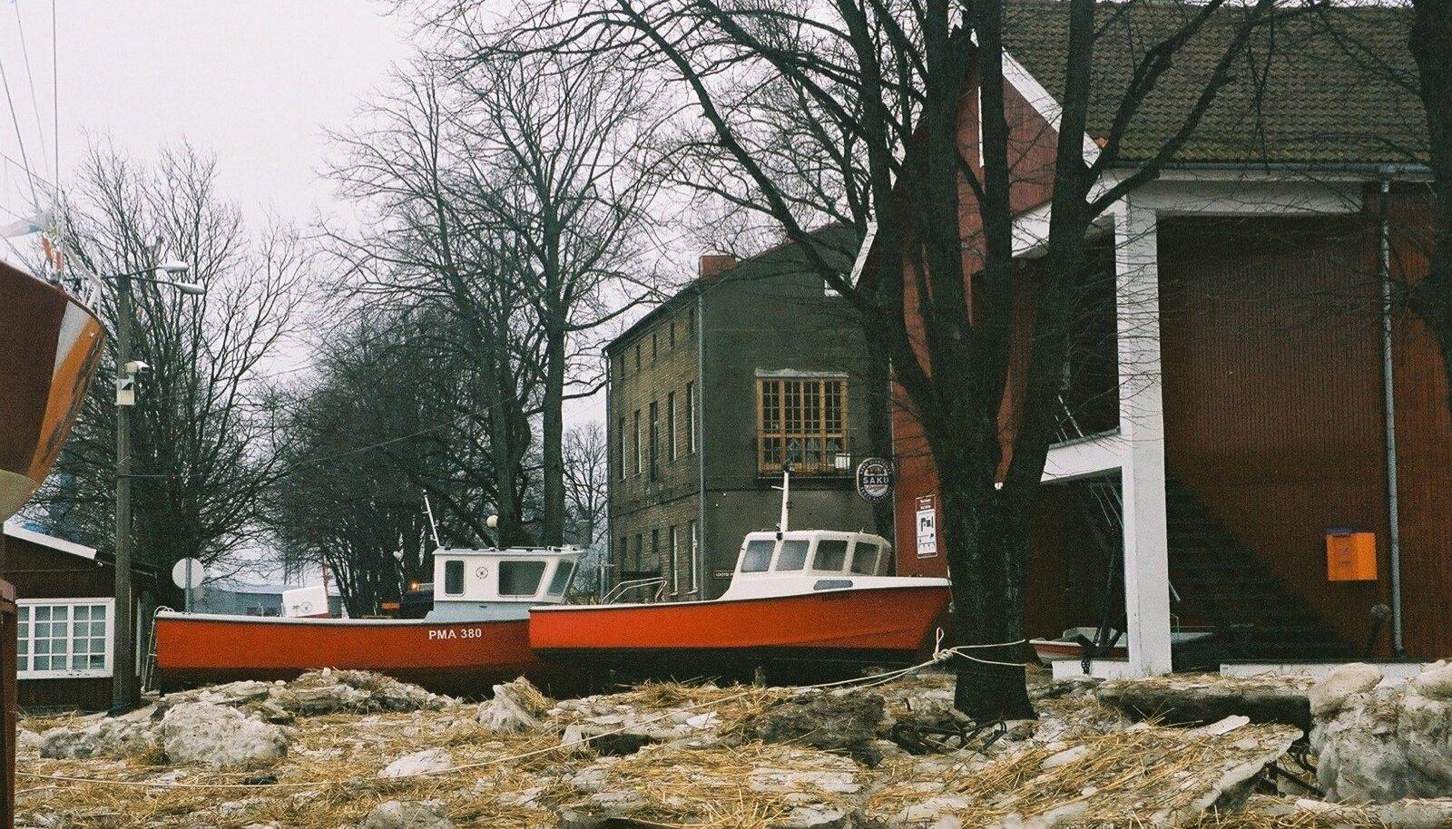 Tormikahjustused Pärnus 2005. aasta jaanuaris.