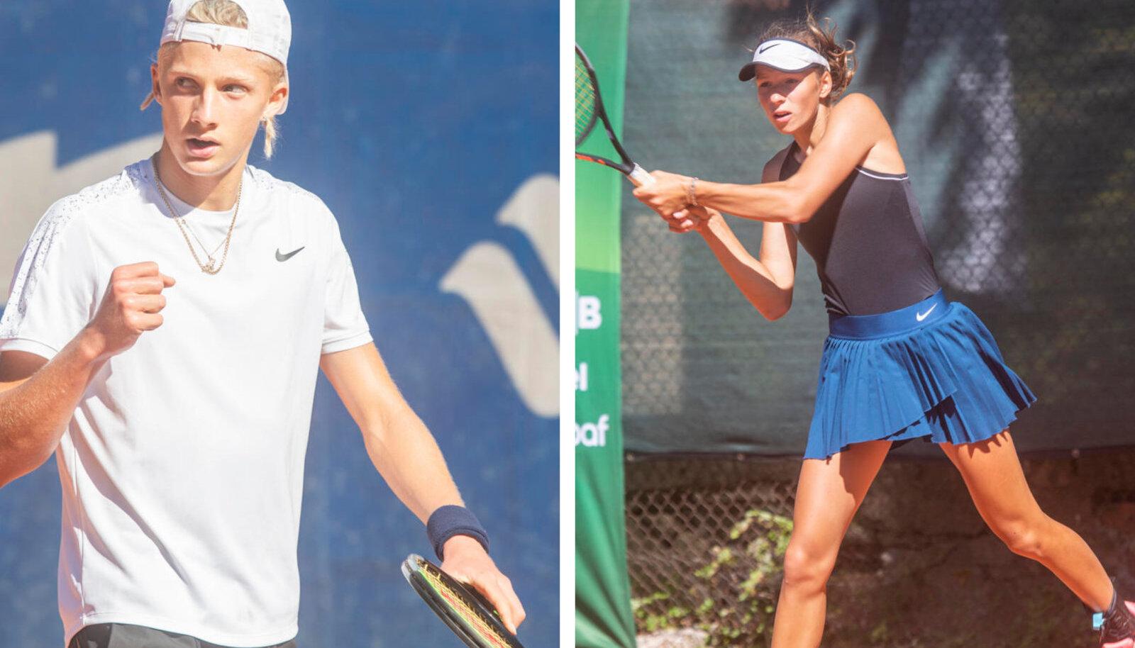 Mark Lajal ja Liisa Varul Kadrioru tenniseväljakutel.