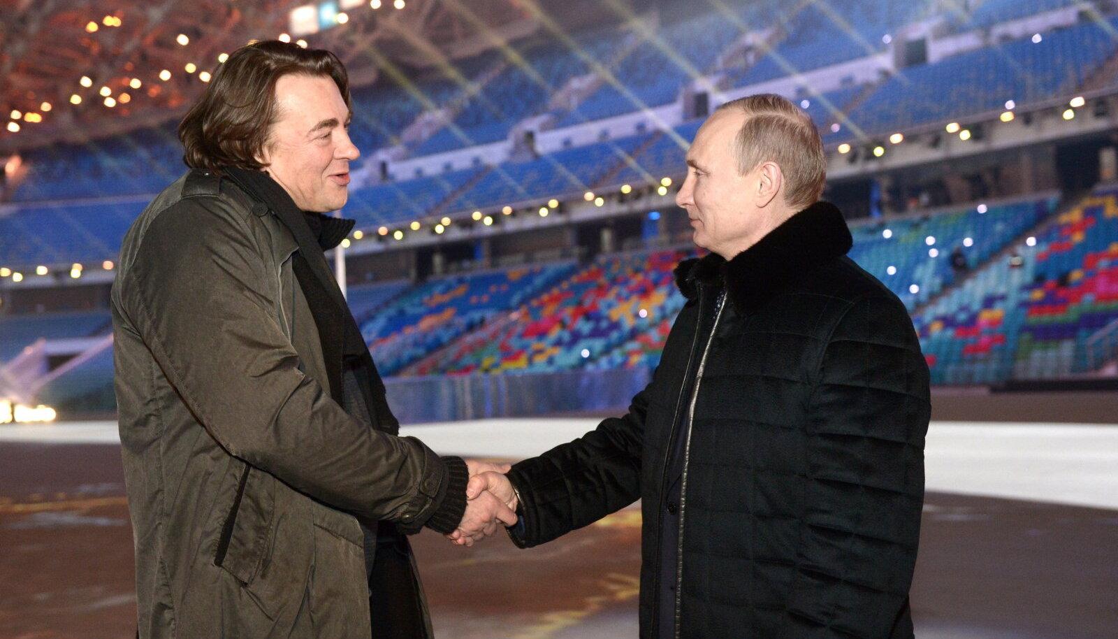 Konstantin Ernst ja Vladimir Putin 2014. aastal