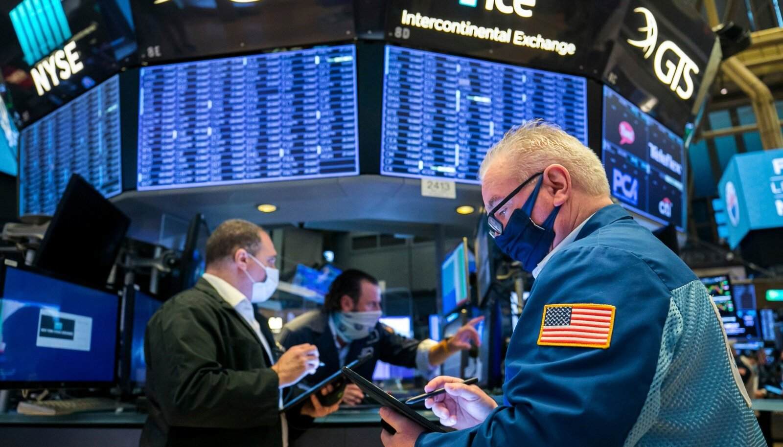 Maaklerid New Yorgi börsil.