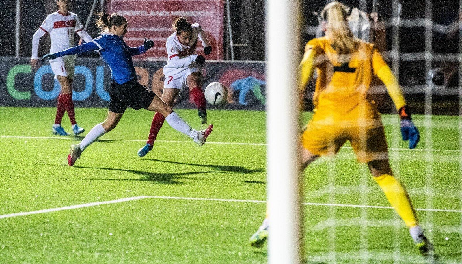 Eesti naiste jalgpallikoondise valikmäng Türgiga