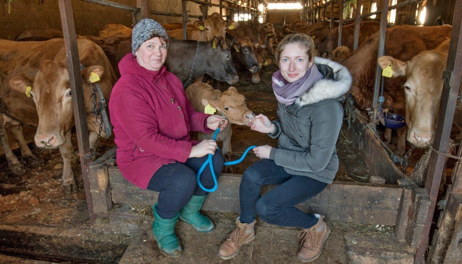 Harjumaal Keelva külas tegutsevas Aedevahe talus on noorteprobleem lahendatud: tütar Viktoria Gošovski (paremal) on talu ema Ilselt üle võtnud.