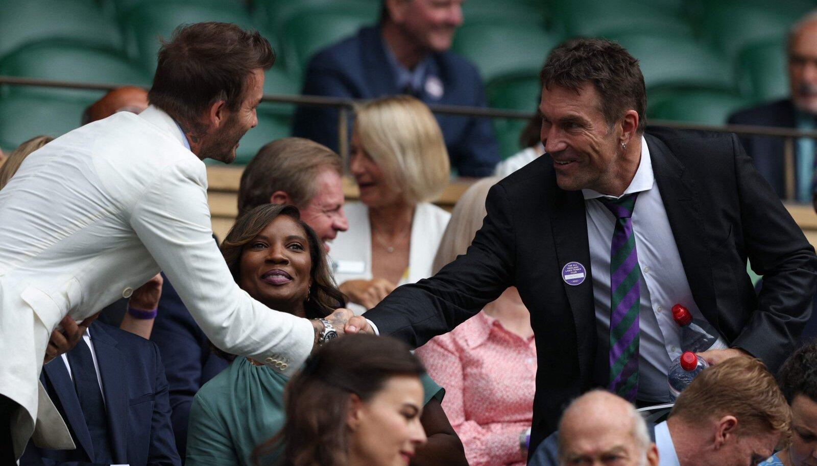 David Beckham ja Pat Cash tänavusel Wimbledoni turniiril