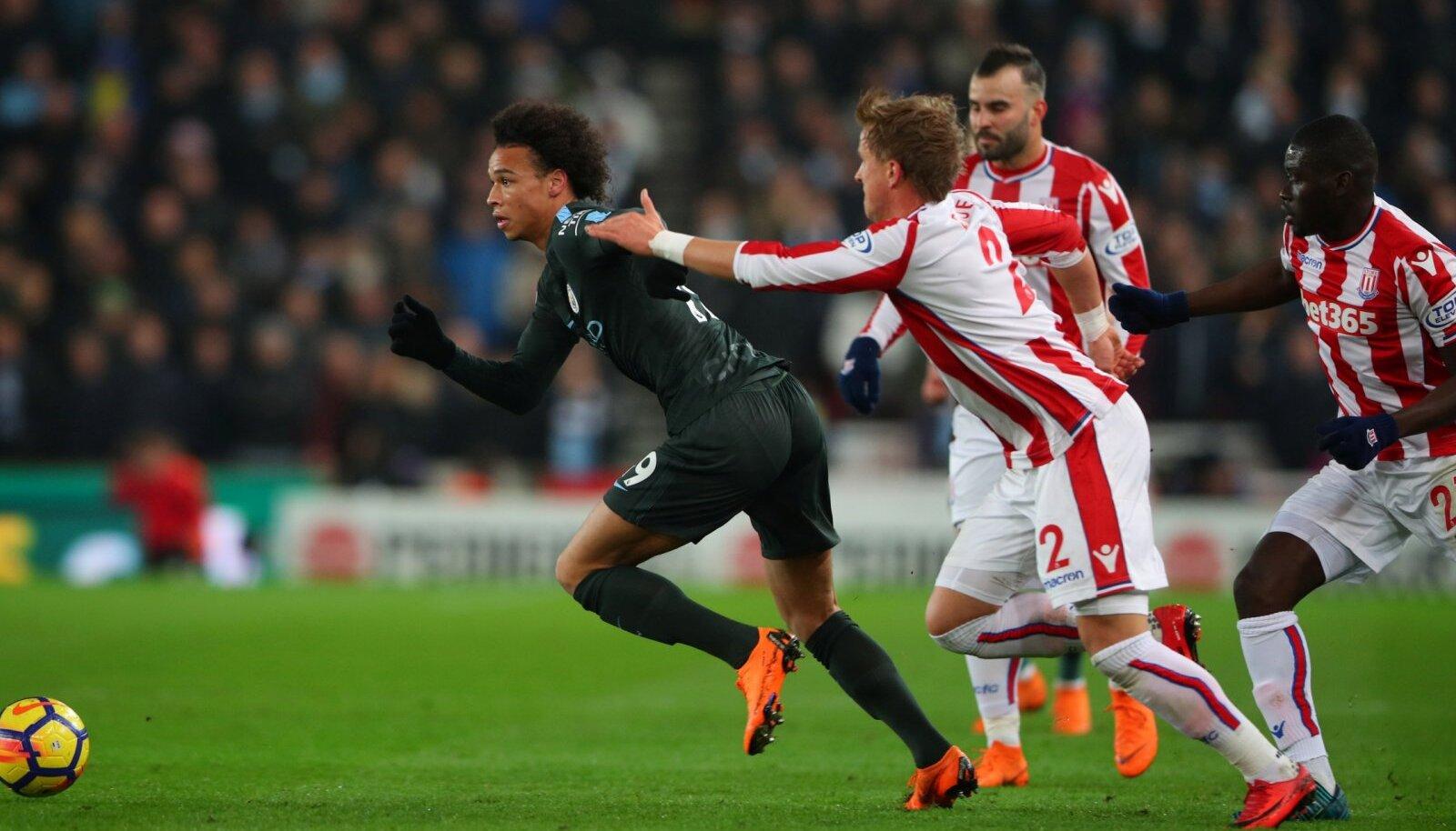Manchester City äärepoolkaitsja Leroy Sane