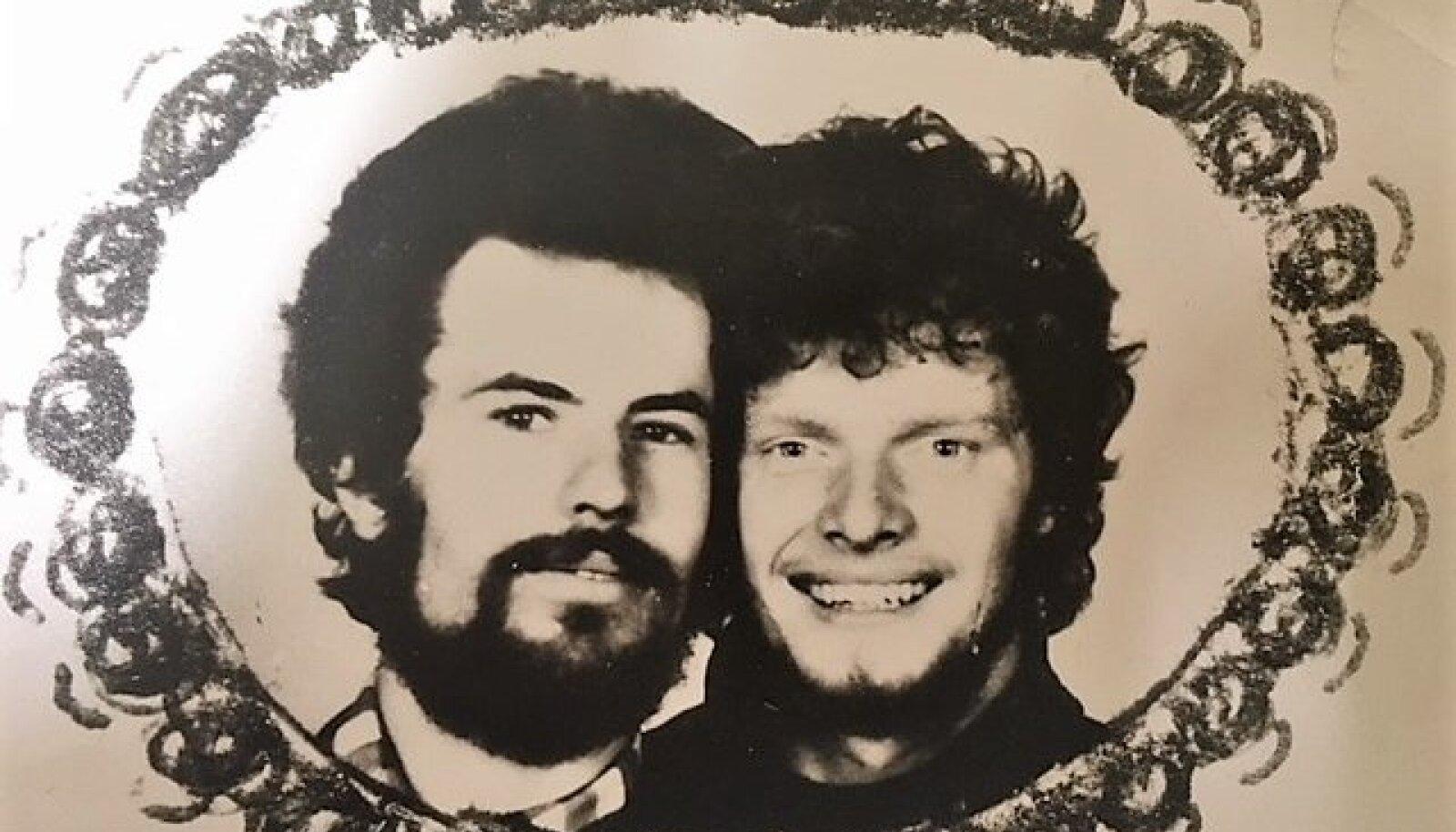 ÕPPISID HOOLEGA MARKSISMI, AGA PARTEISSE EI ASTUNUD: kursusevennad ülikooli ajakirjandusosakonnast Rein Sikk ja Hans H. Luik 1982. aastal.