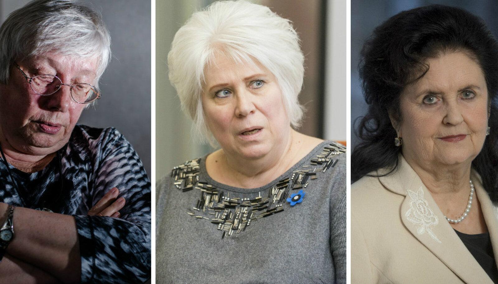 Marju Lauristin, Marina Kaljurand, Ingrid Rüütel