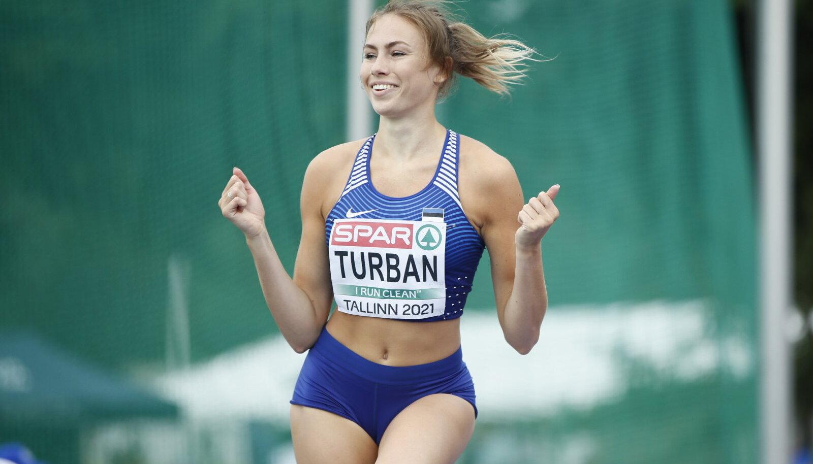 Lilian Turbani emotsioon 1.78 ületamise järel.