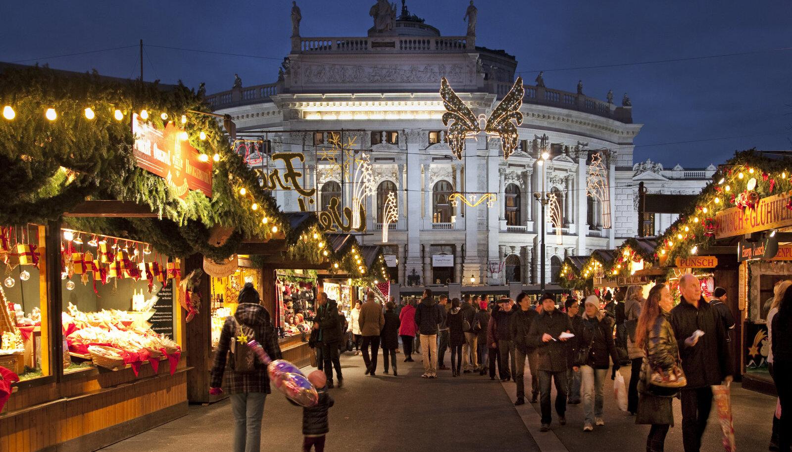 Viini jõuluturg Austrias.