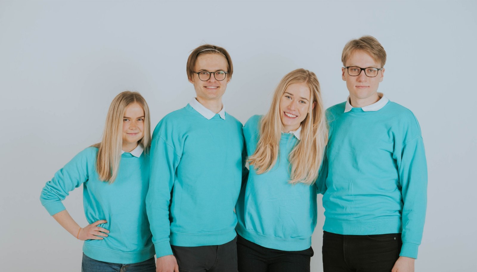 MÜNT: Märten Kala (19), Marilin Berg (19), Eva Maria Ilves (18) ja Aksel Joonas Reedi (19) päästavad maailma, ühe hambapasta tuubi kaupa.