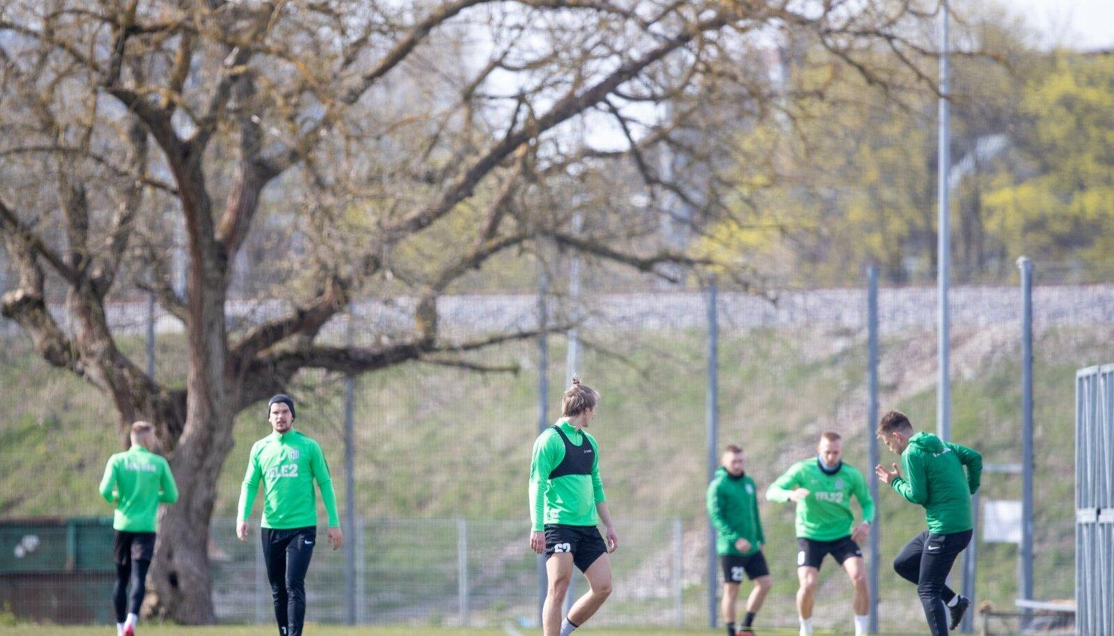 FC Flora alustas ühistreeningutega