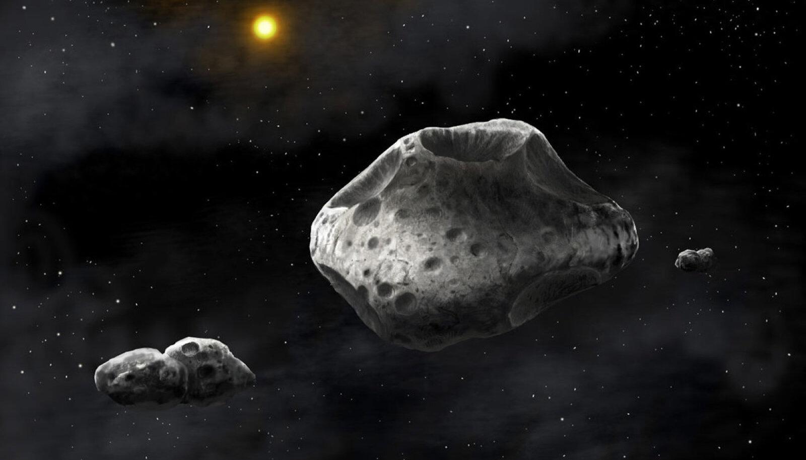 Asteroid sisaldab ohtralt vesinikku, mis blokeerib kosmilist kiirgust. Foto: Danielle Futselaar/SETI Institute