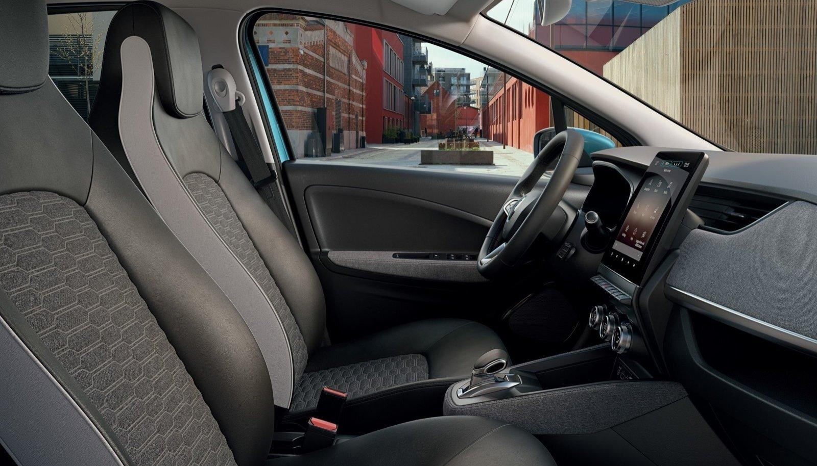 Uues Renault Zoe elektriautos on kasutusel ainulaadne materjal, mille valmistamisel on kasutatud turvavöösid, kanga ülejääke ja ümbertöötatud plastpudeleid.