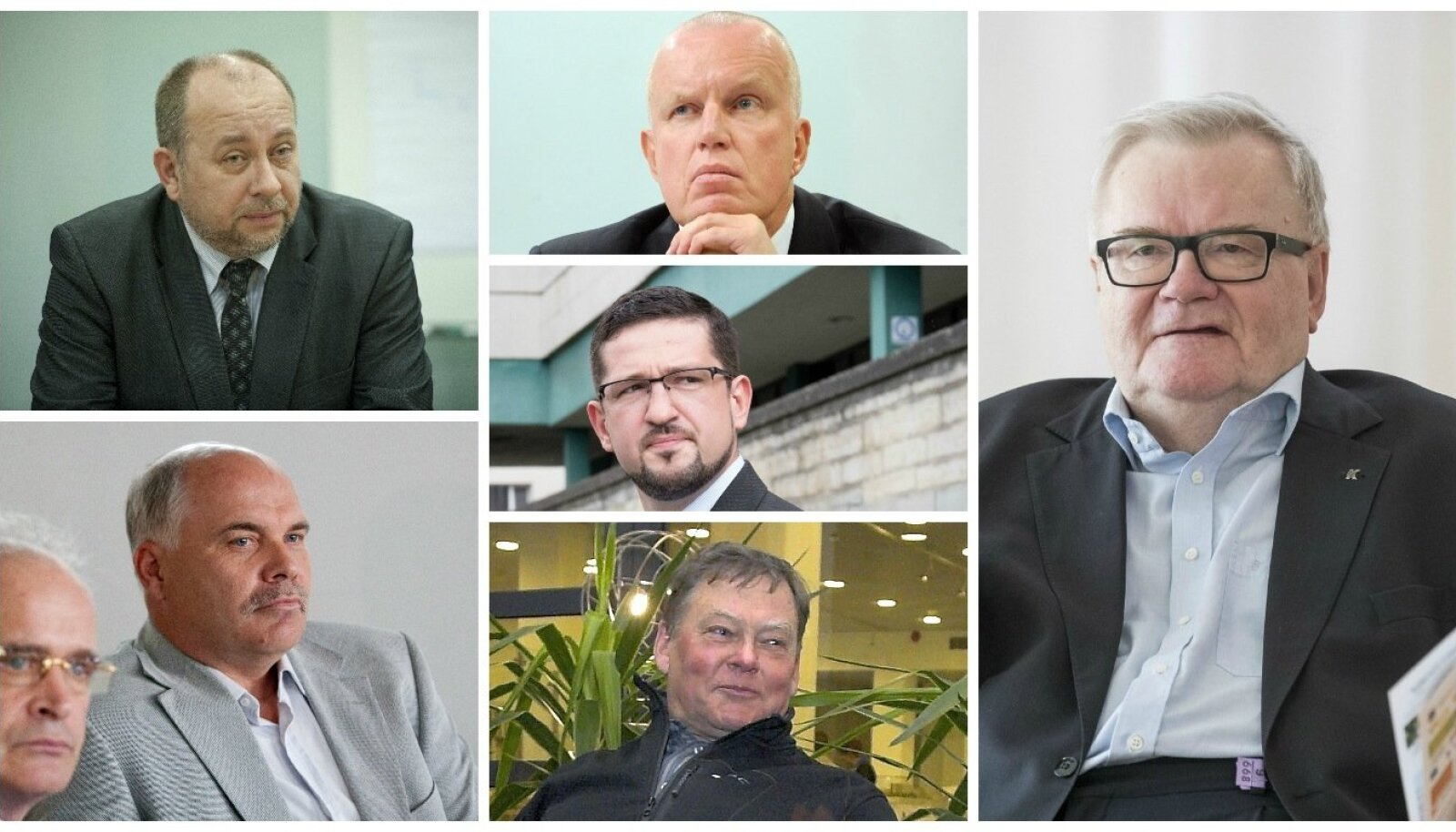 Ivo Parbus, Elmar Sepp, Edgar Savisaar, Toomas Õispuu, Alar Nääme, Mati Songisepp