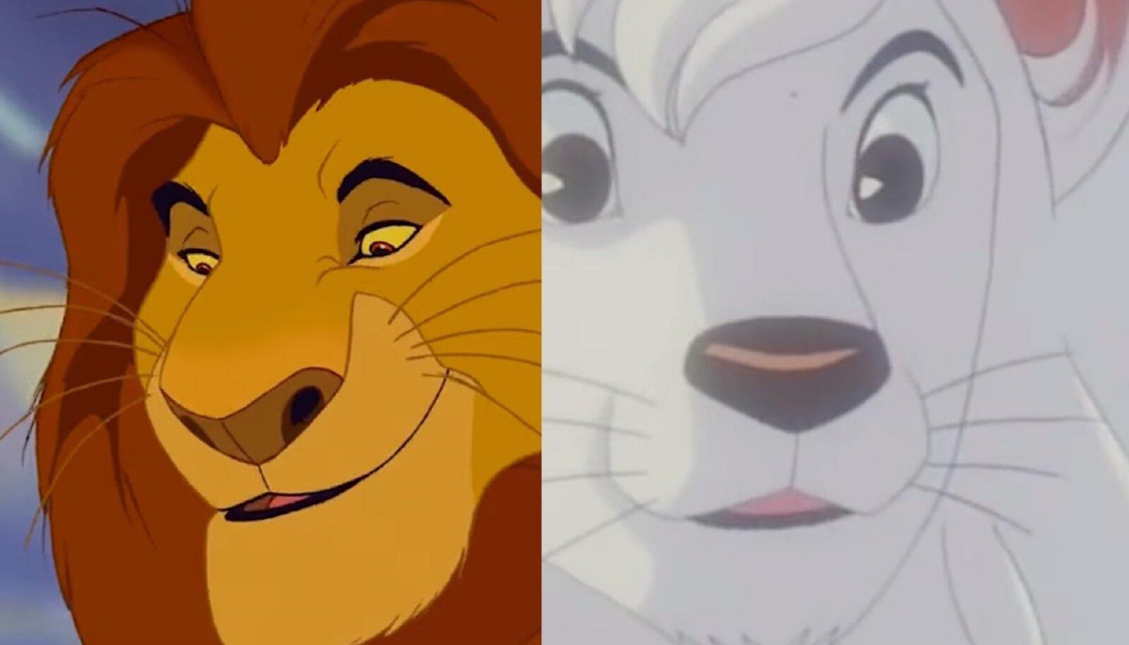 """""""Lõvikuningas"""" (1994) ja """"Kimba"""" (1965)"""