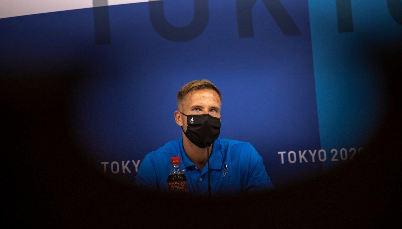 Rasmus Mägi Tokyo 2020 pressikonverentsil 28.07.2021