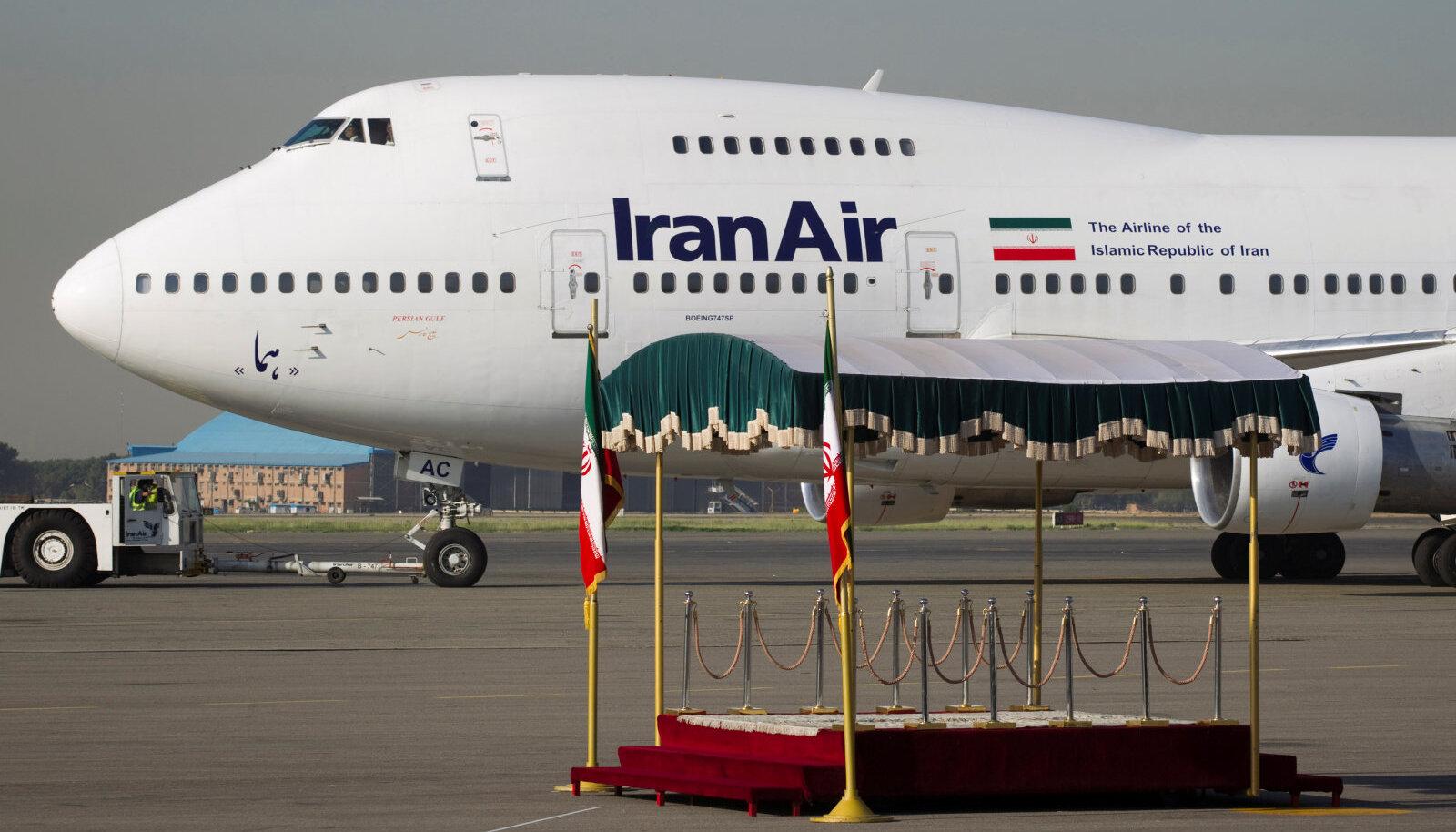 Iraani lennukompanii IranAiri lennuk