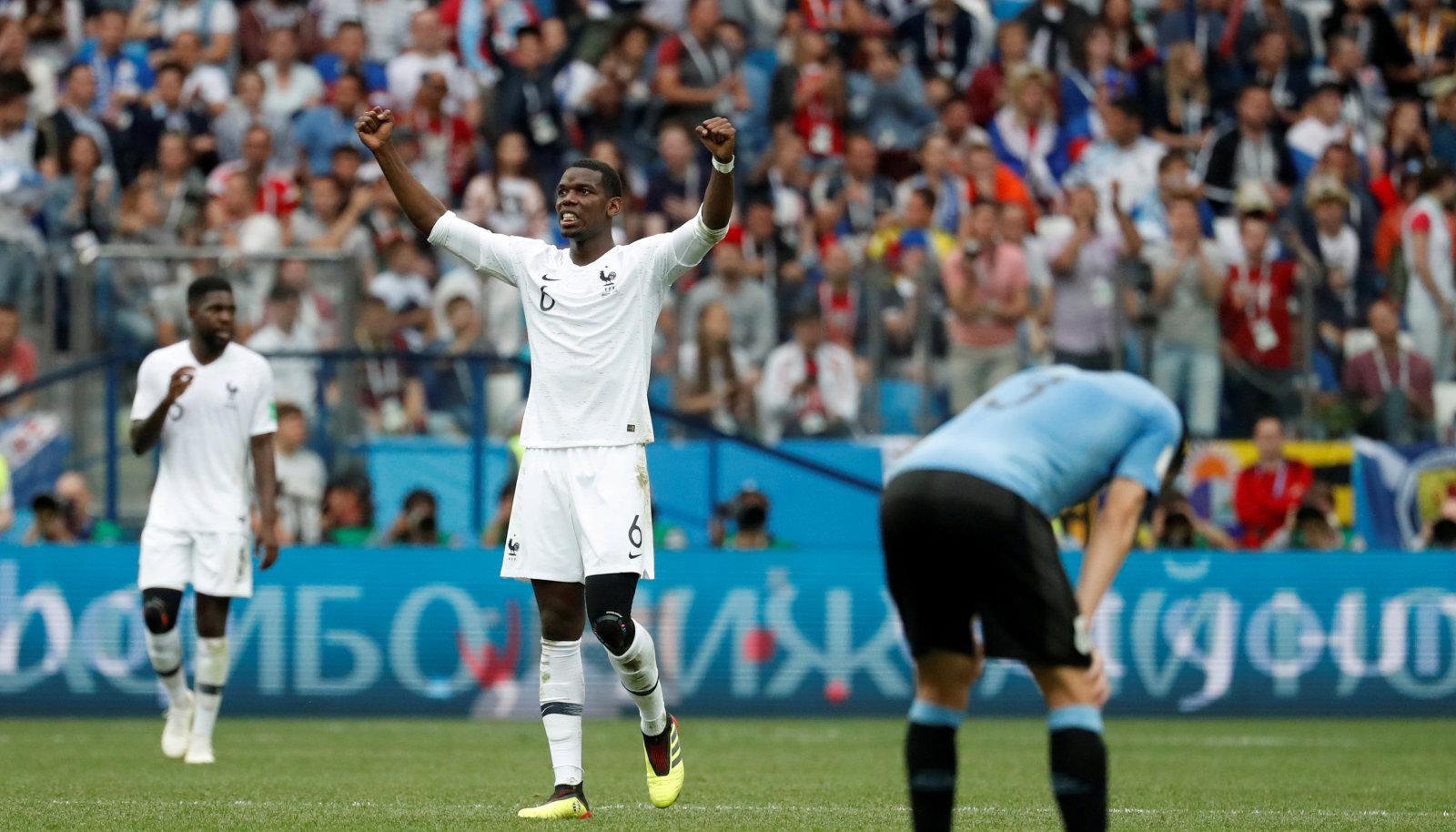 Prantsusmaa alistas kaheksandikfinaalis Uruguay