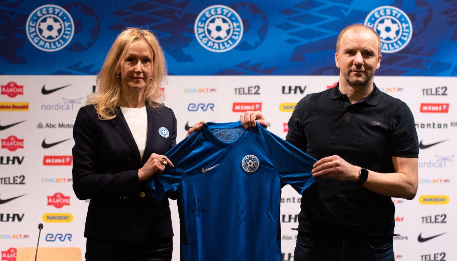 Eesti jalgpallikoondise uus särk