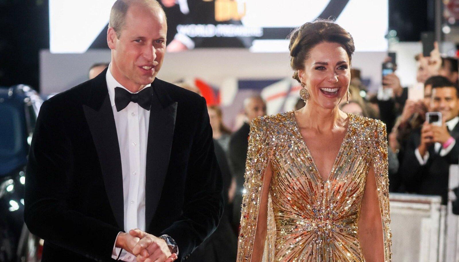 Prints William ja hertsoginna Catherine uue Bondi filmi esilinastusel