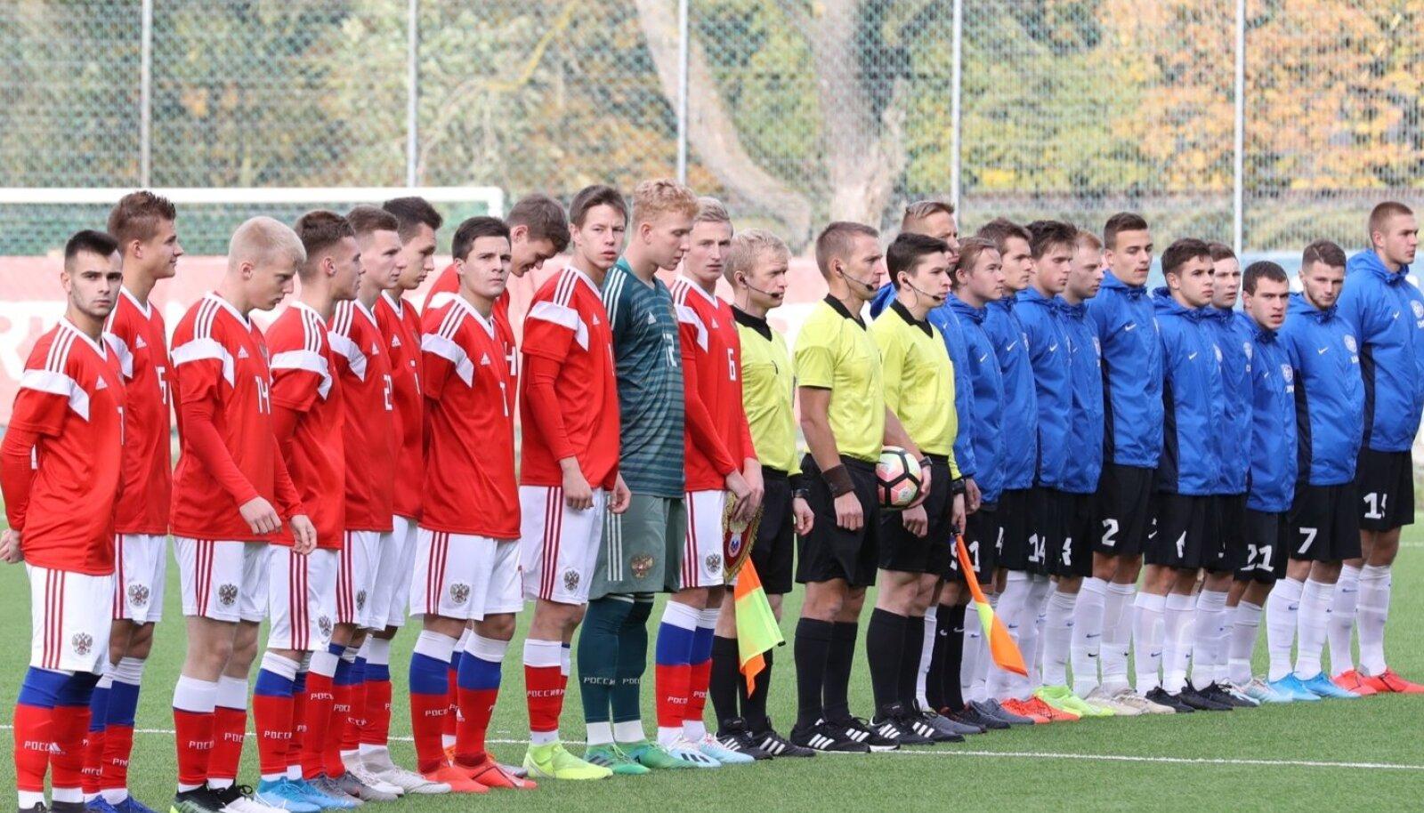 Eesti ja Venemaa U19. (Foto on illustratiivne)