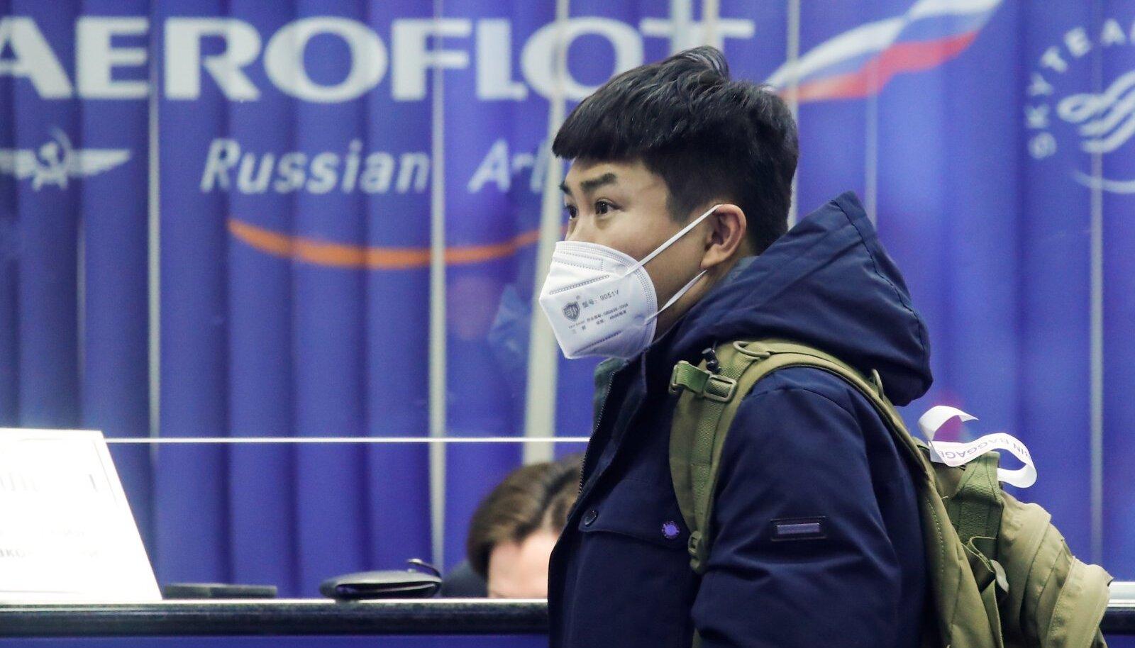 Reisija Moskva Šeremetjevo lennujaamas.