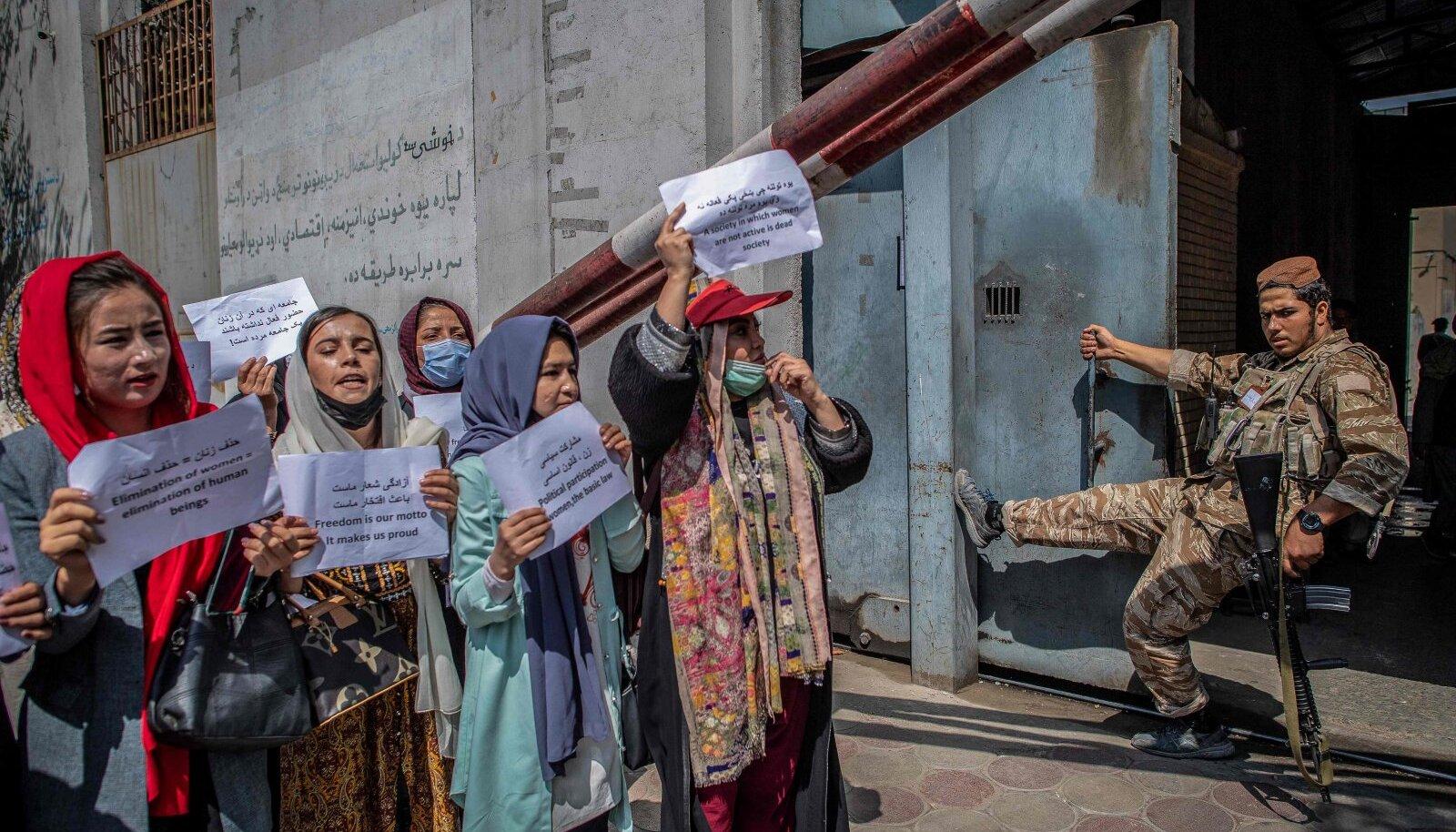 19 сентября женщины в Кабуле снова вышли на акцию протеста