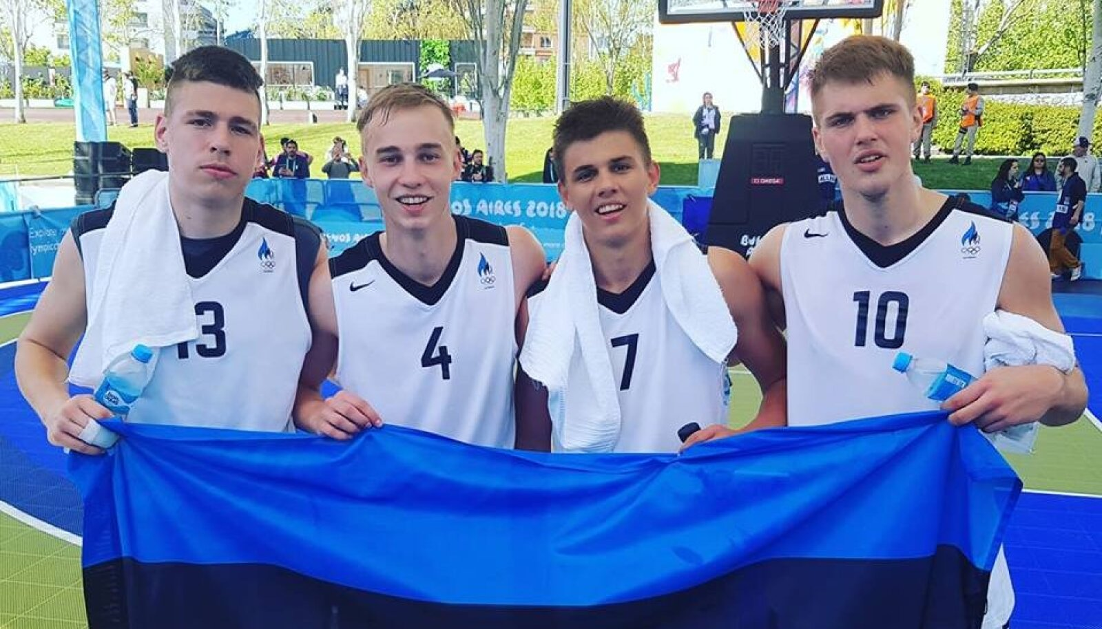 Eesti U18 3x3 korvpallimeeskond.
