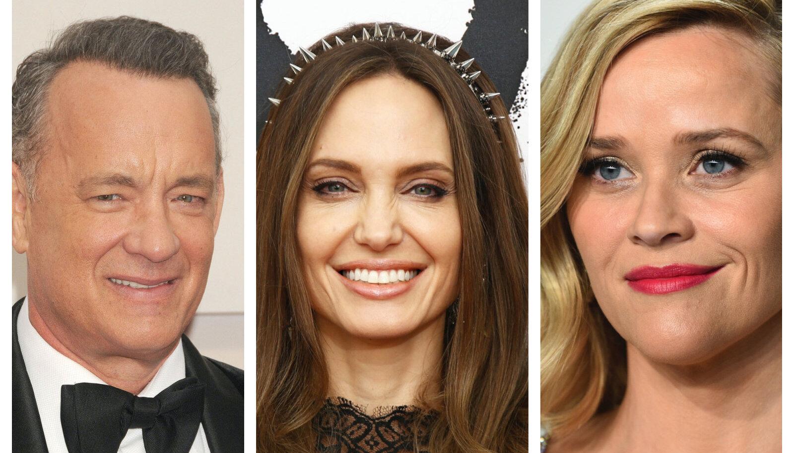 Tom Hanks, Angelina Jolie, Reese Witherspoon