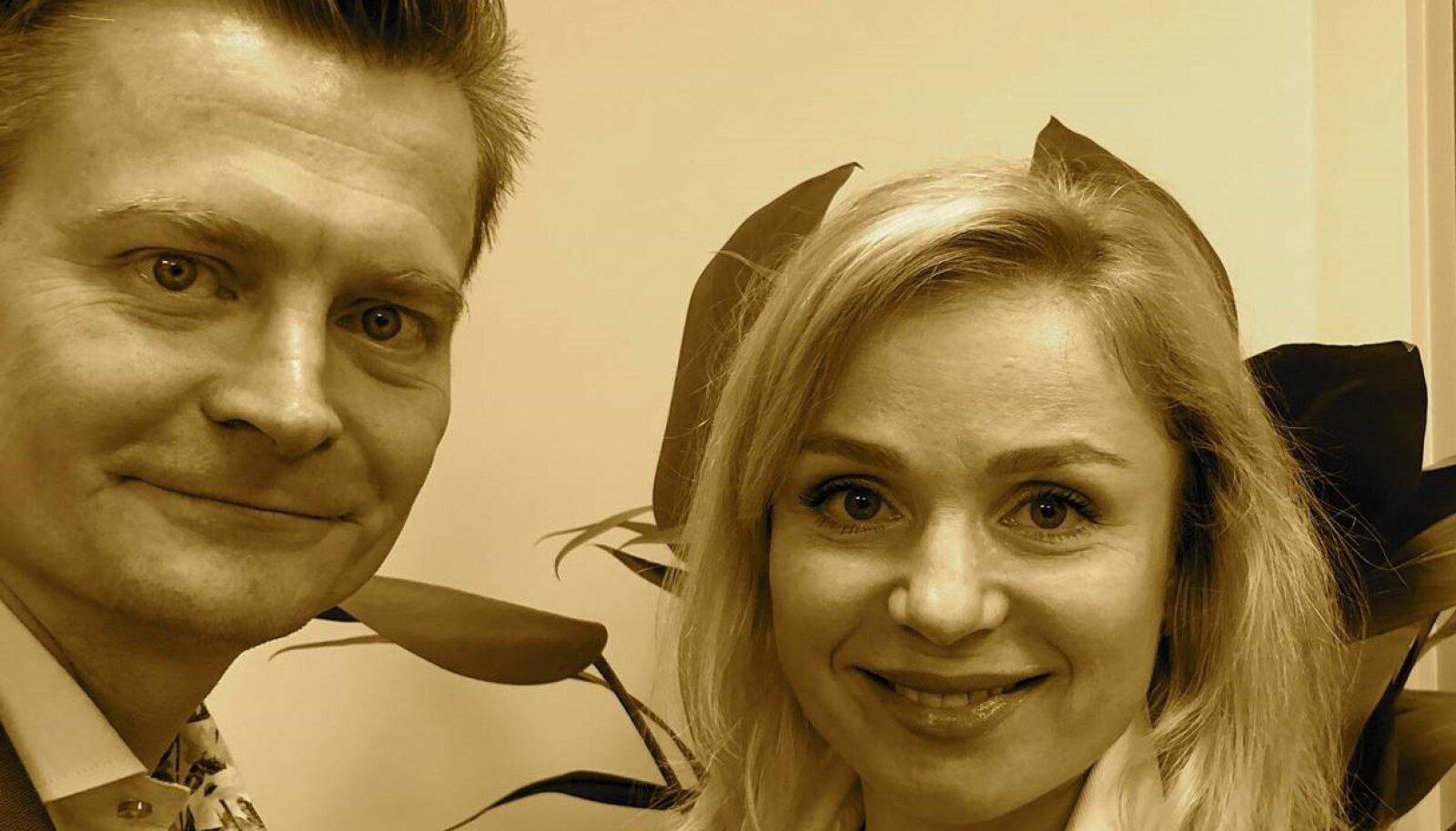 Veiko Valkiainen ning Olga Meinson.