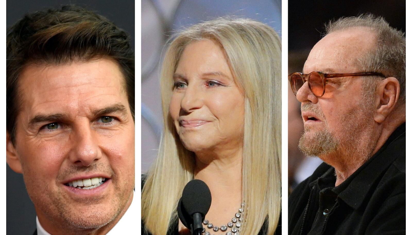 Tom Cruise, Barbara Streisand, Jack Nicholson
