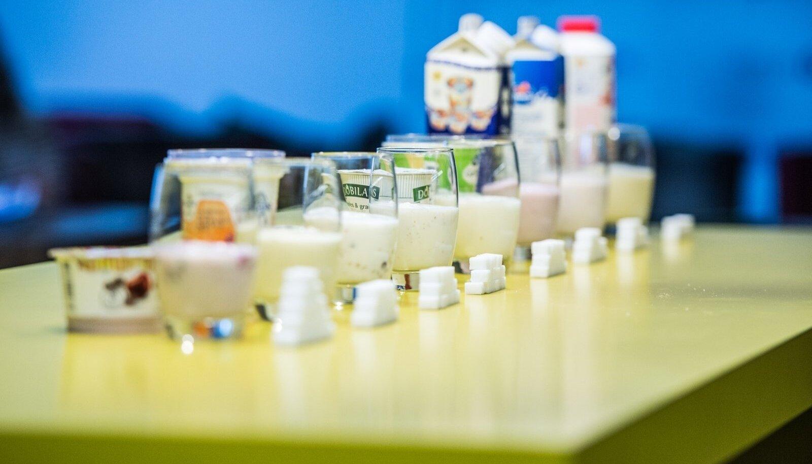 Suhkrusisaldus jogurtites on üllatavalt suur.