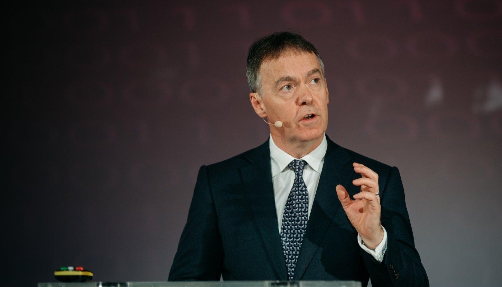 Briti teletootja Sky Groupi juht Jeremy Darroch eile Tallinnas toimunud audiovisuaalturu visioonikonverentsil