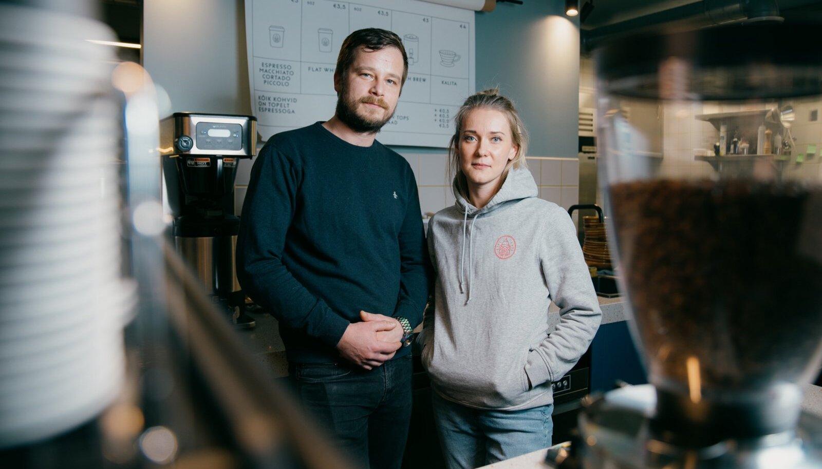 Paper Milli kohviku asutajad Margus Varvas ja Kristel Parts