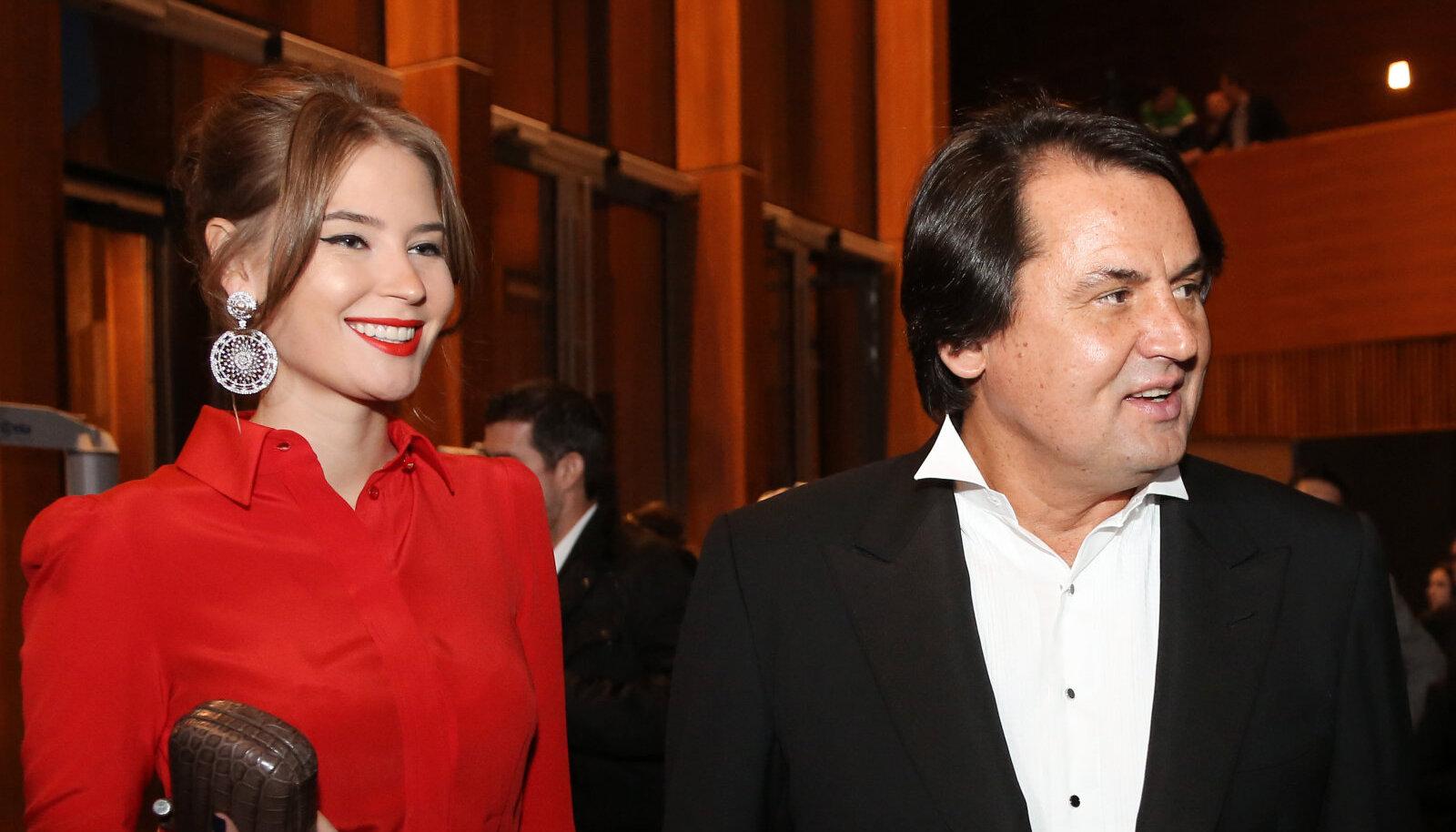Roustam Tariko koos abikaasa Jelenaga.