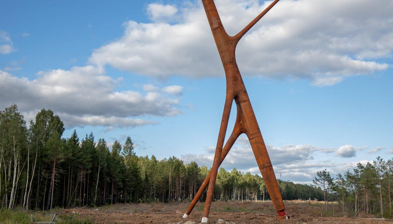 Risti lähedal on juba kõrgepingeliini disainmast Soorebane.