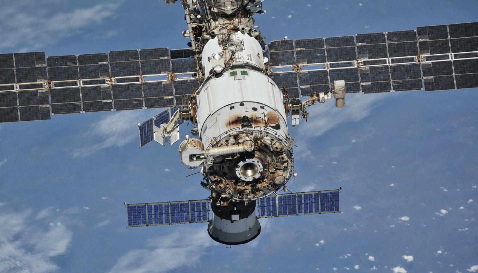 Rahvusvaheline kosmosejaam 2018. aasta jäädvustusel.