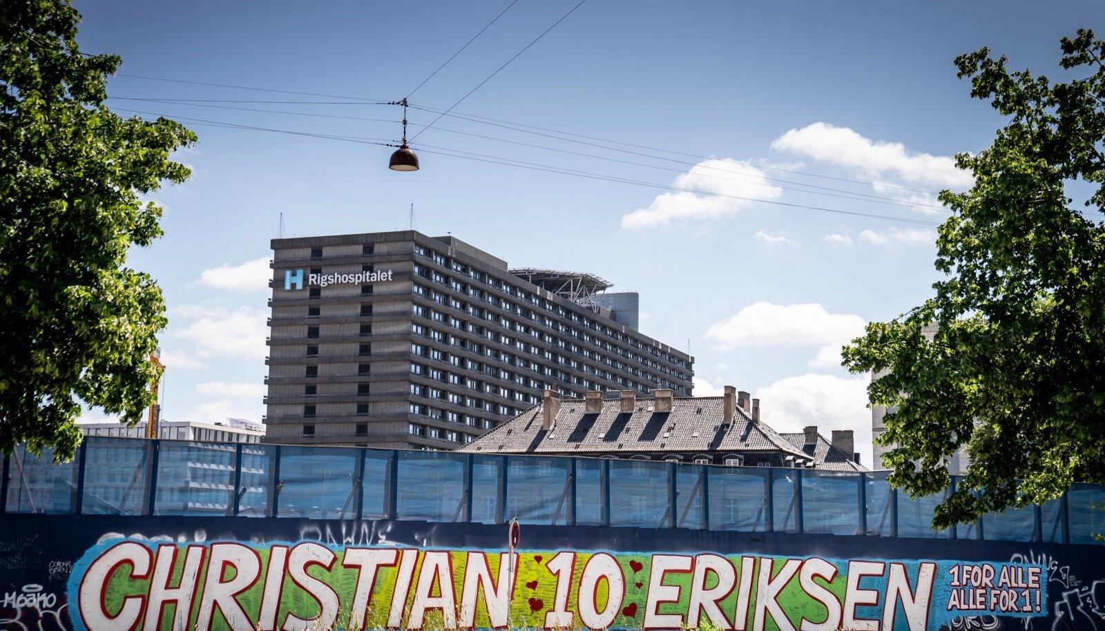 SEEKORD LÄKS ÕNNEKS: Taani koondise ründaja Christian Eriksen sattus mängult otse tagaplaanil olevasse Kopenhaageni Rigshospitaletisse.