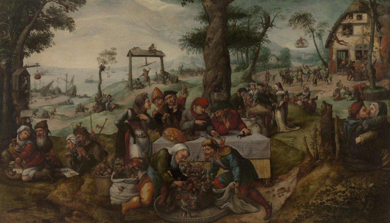 """Frans Verbeecki """"Inimkonna rumaluse pilkamine"""" (u 1550) viitab, et rumalus on nakkav ja selle eest pole keegi kaitstud."""