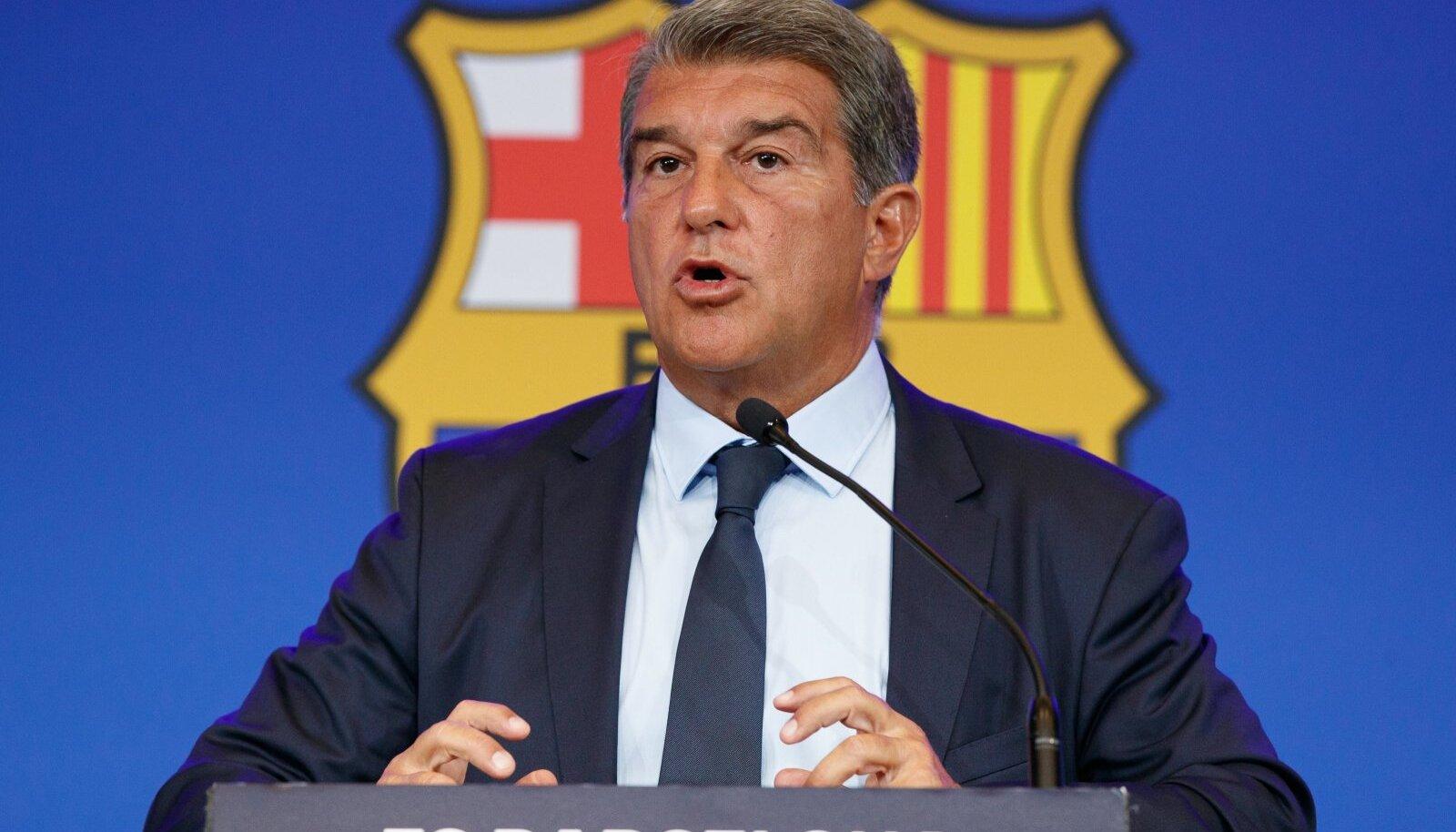 FC Barcelona president Joan Laporta.