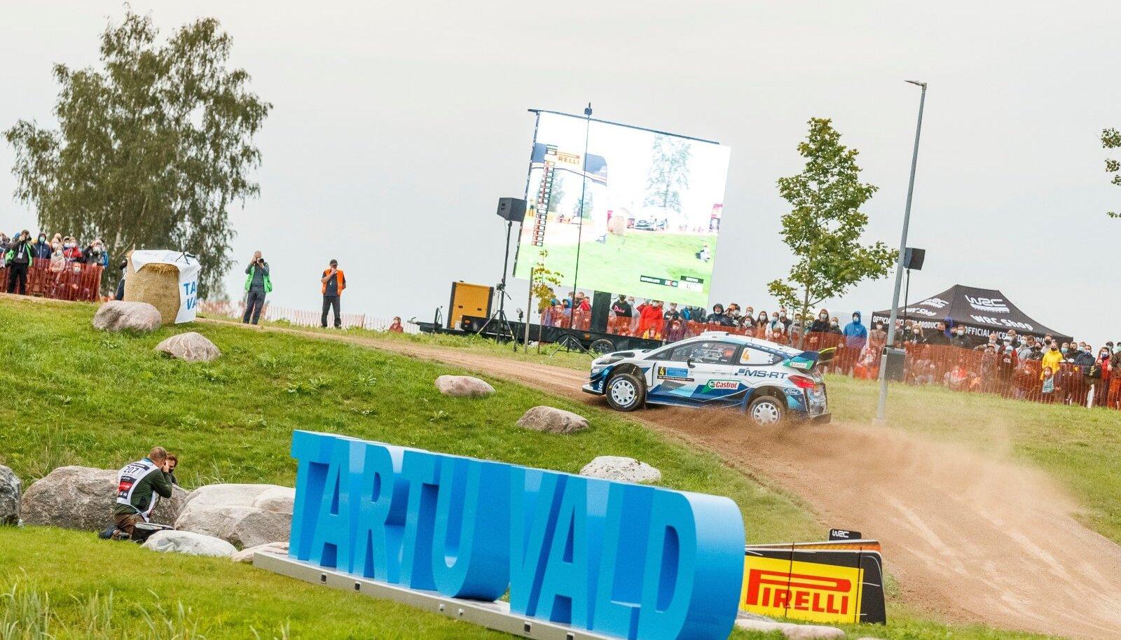 2020. aasta Rally Estonia 1. kiiruskatse. Esapekka Lappi M-Spordi Fordi roolis.