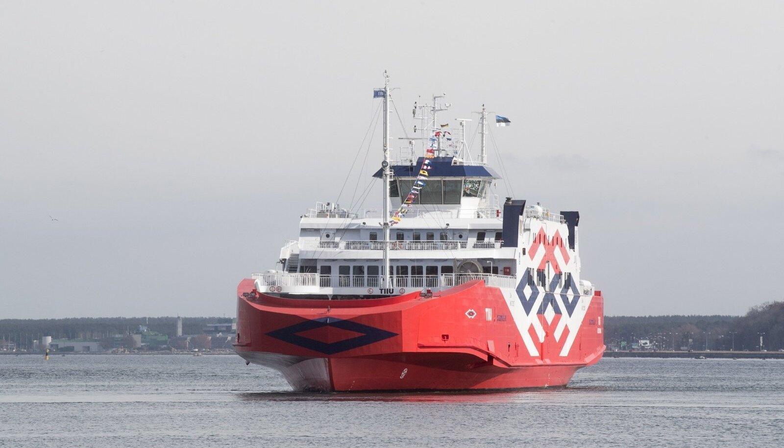 Parvlaev Tiiu aprilli alguses Türgist tehasest Tallinna saabumas.