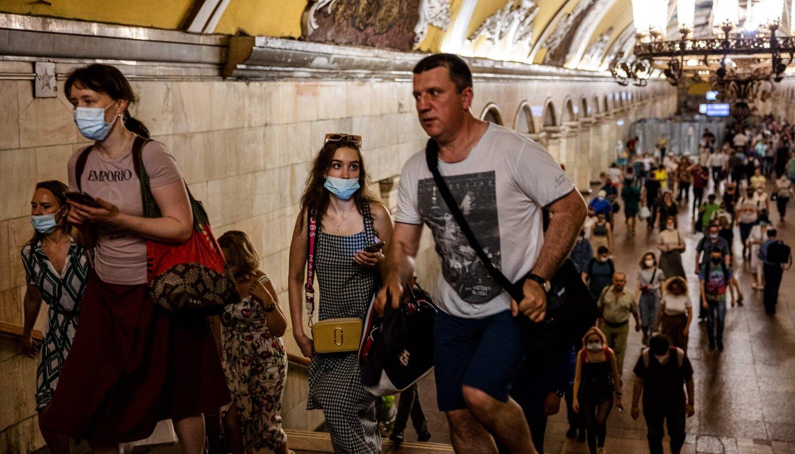 Moskva metroos kehtib ametlikult maski- ja kindakohustus.