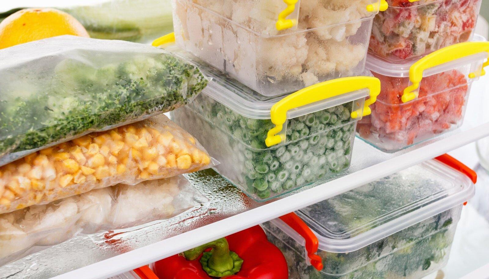 Kõik aiasaadused on soovitatav pakendada õhukindlasse karpi või vastupidavasse külmutuskotti.