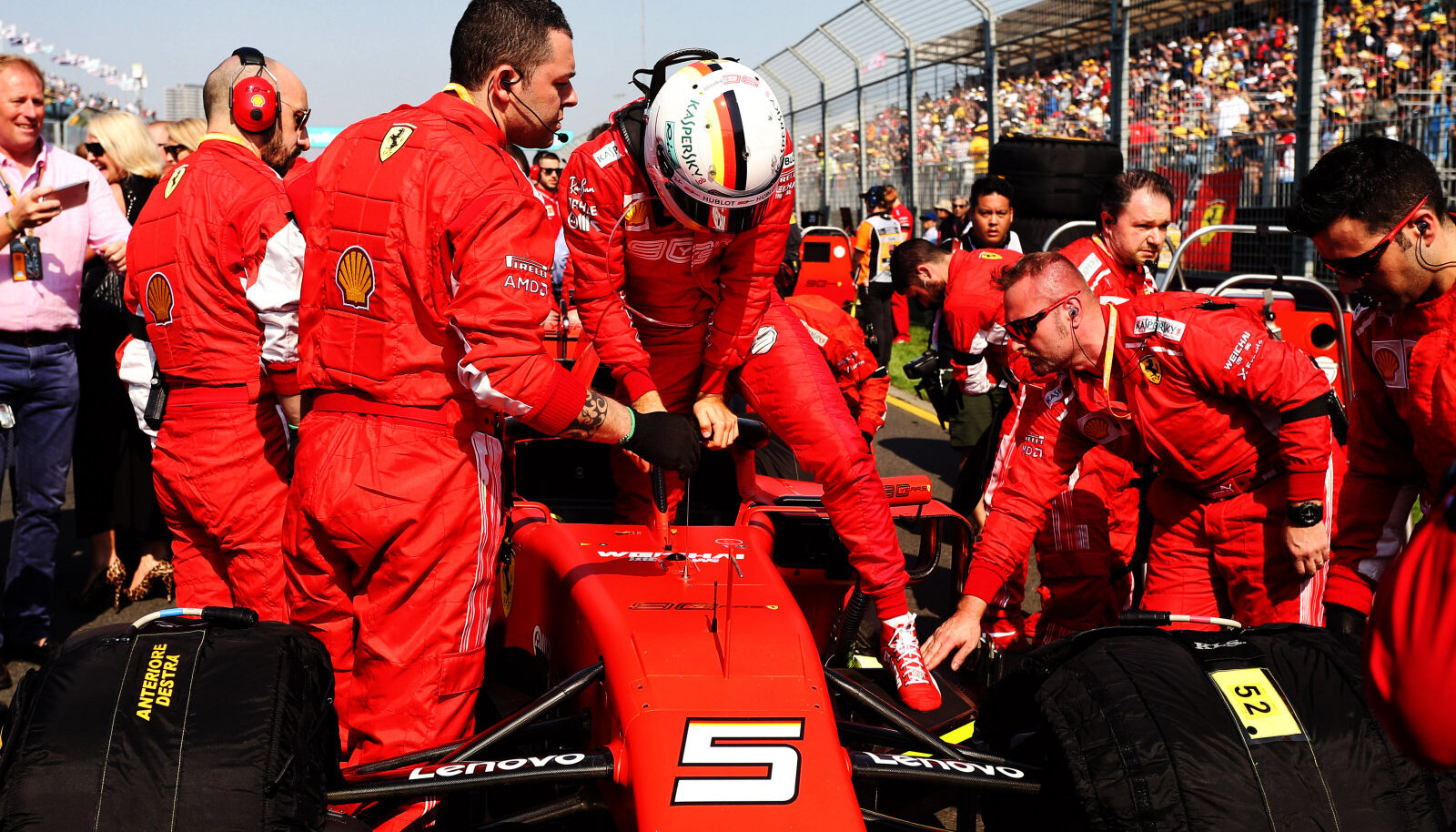 Sebastian Vettel Austraalia GP-l